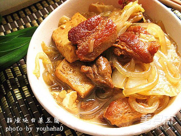 脂渣炖白菜豆腐怎么煮