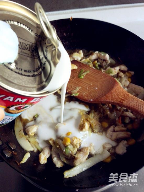 绿咖喱鸡肉卷的制作大全