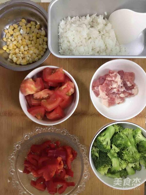 蔬菜营养芝士焗饭的做法图解