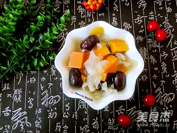 南瓜银耳红枣汤成品图