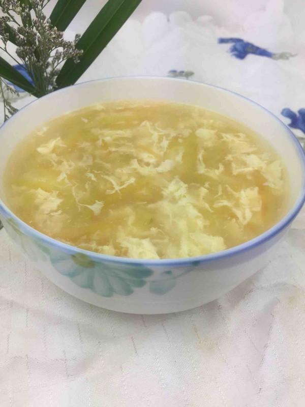 西瓜皮鸡蛋汤成品图