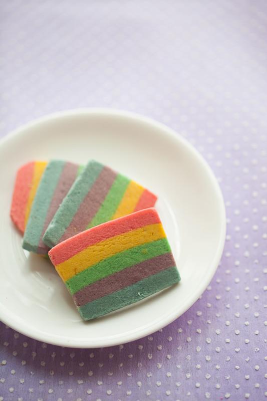 彩虹饼干的制作
