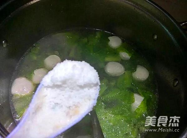肉丸生菜汤怎么吃
