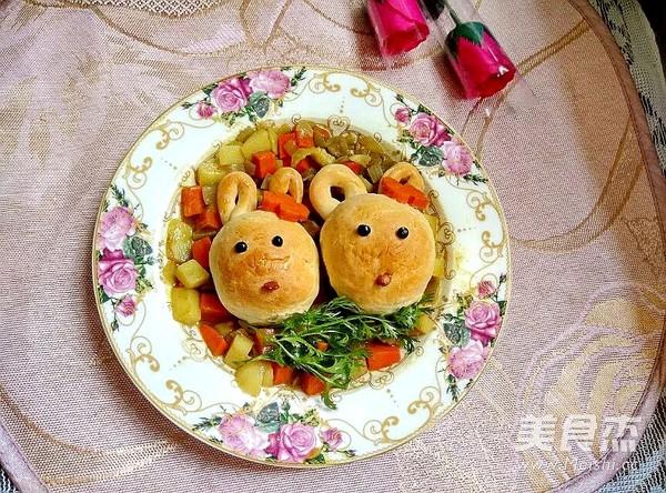咖喱小兔面包怎么炒