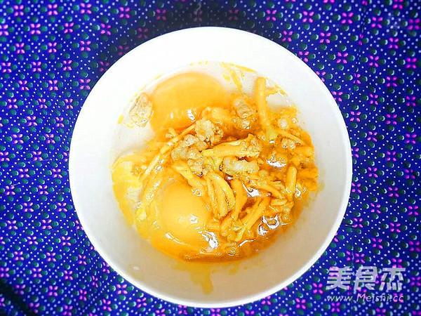 花蕾肉末煎鸡蛋的简单做法