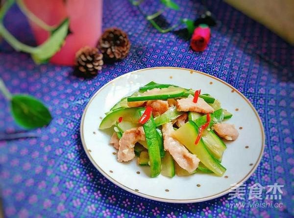 松板肉炒西葫芦怎么煮