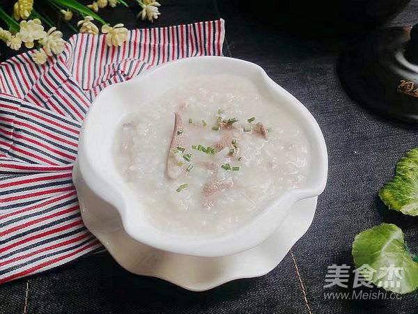 砂锅猪肝肉末粥成品图