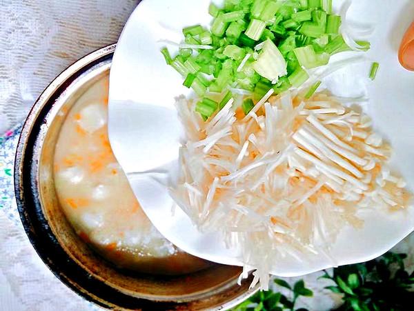 菌菇蔬菜粥怎么炒