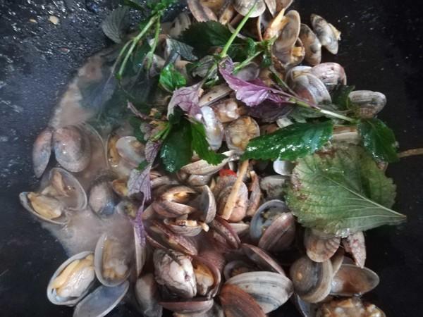 紫苏豆豉炒花甲怎么做
