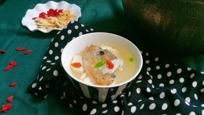 豆腐鱼头汤成品图
