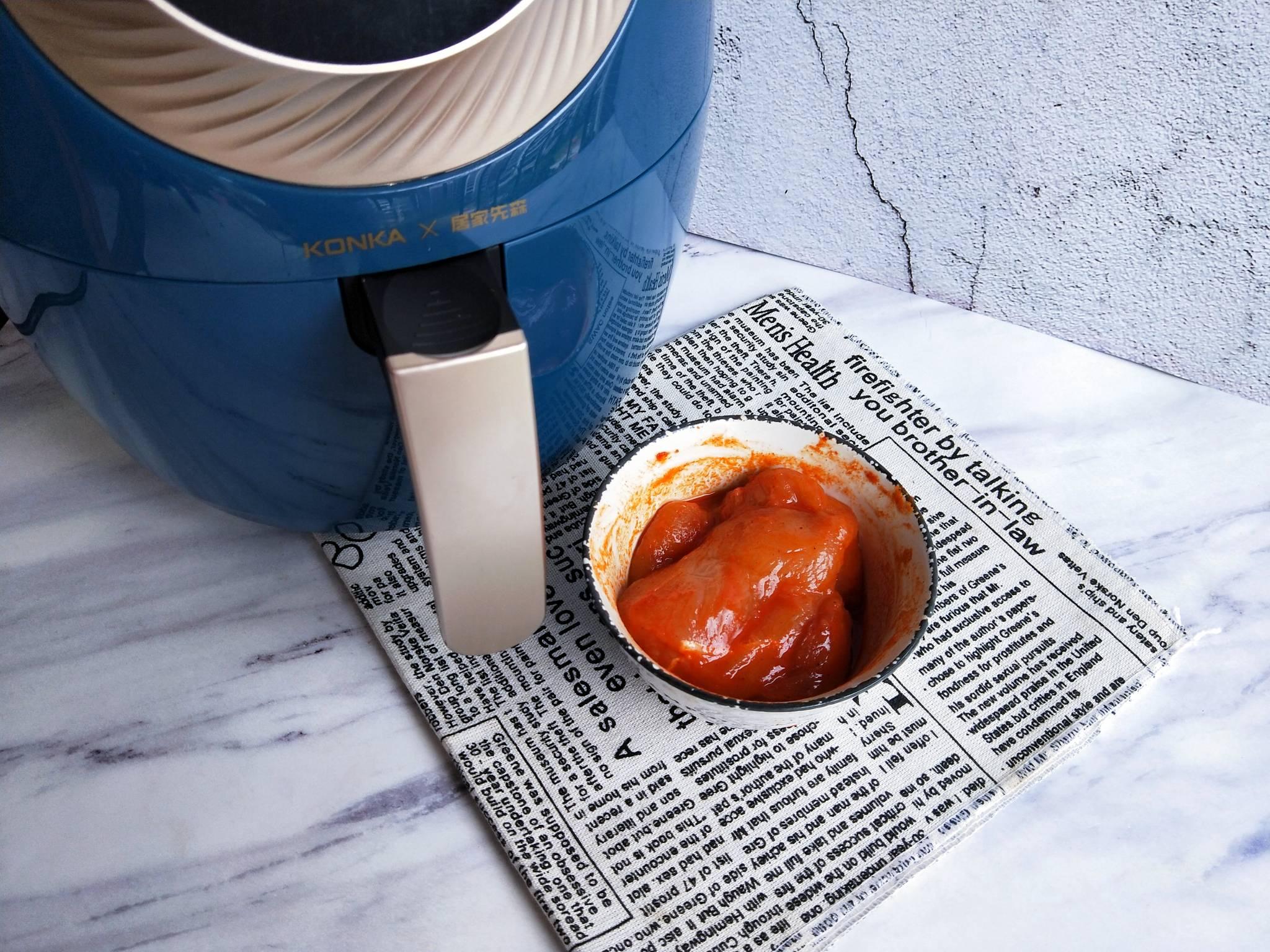 空气炸锅做的鸡扒,无油低脂可香了的简单做法