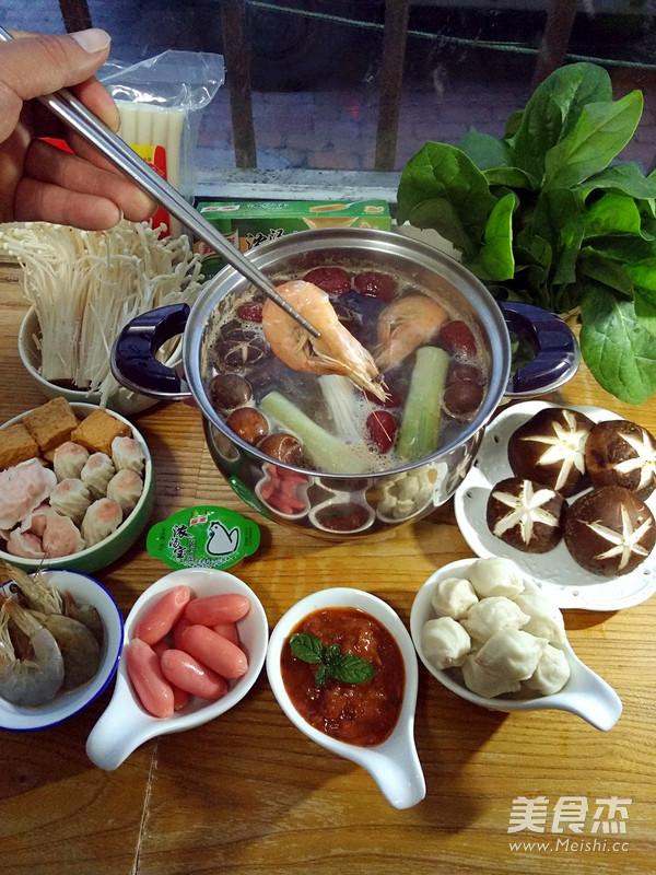 鸡汤火锅怎么吃
