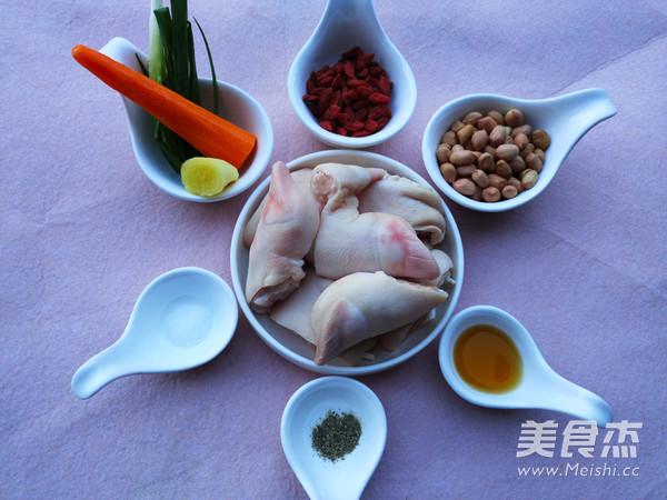 花生枸杞猪蹄汤的做法图解