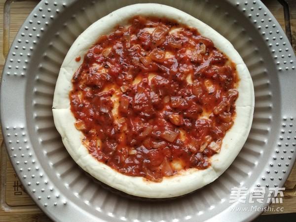 彩蔬鲜虾披萨的做法图解