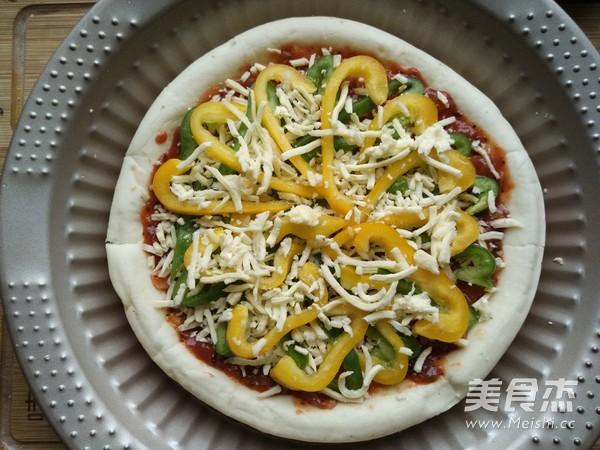 彩蔬鲜虾披萨的简单做法