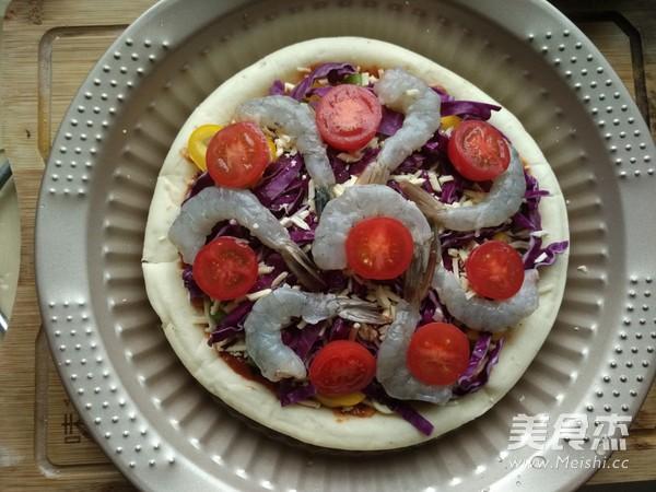 彩蔬鲜虾披萨怎么做