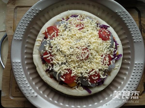 彩蔬鲜虾披萨怎么炒