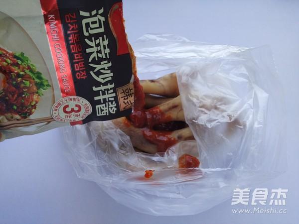 泡菜酱焗凤爪的做法图解