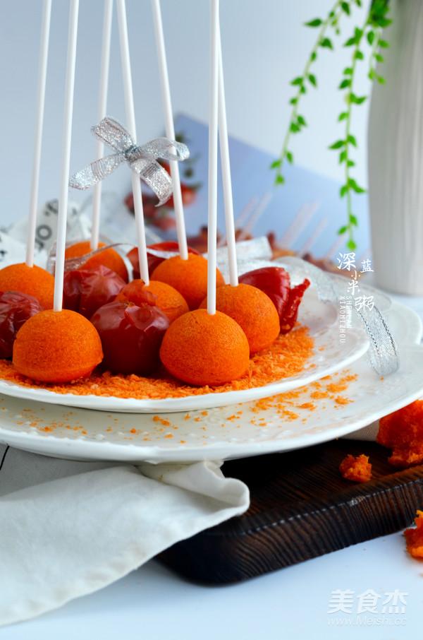 西红柿棒棒糖蛋糕成品图