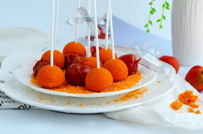 西红柿棒棒糖蛋糕的步骤