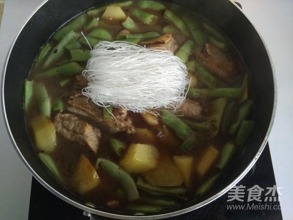 排骨粉条炖豆角~东北菜怎么炒