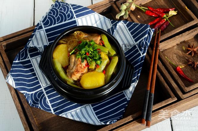 排骨粉条炖豆角~东北菜怎么炖