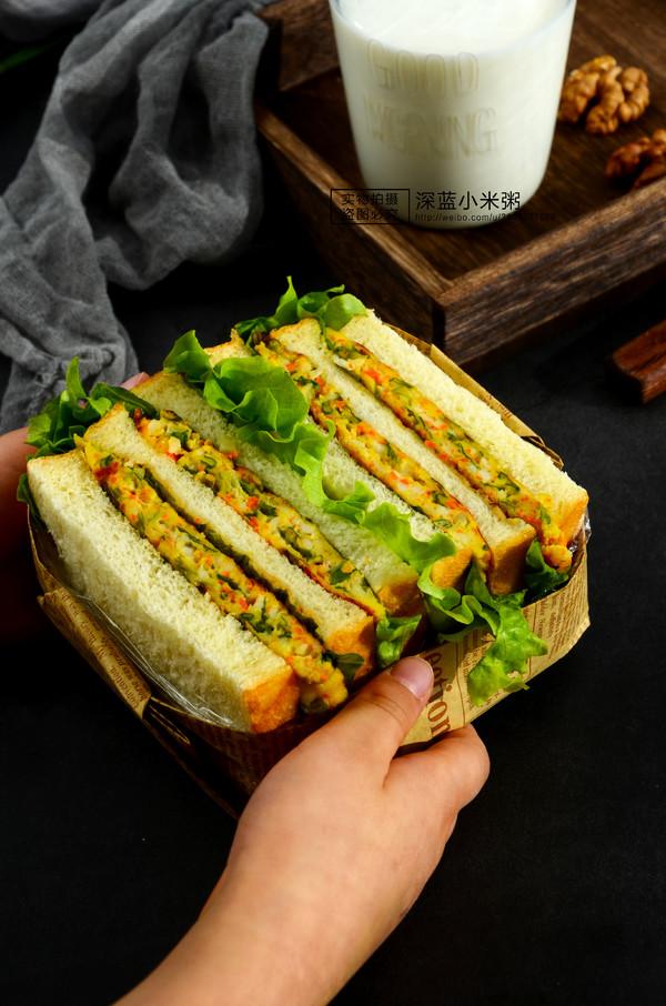 南极磷虾三明治成品图