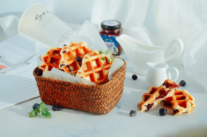 蓝莓华夫饼(酵母版)怎样做