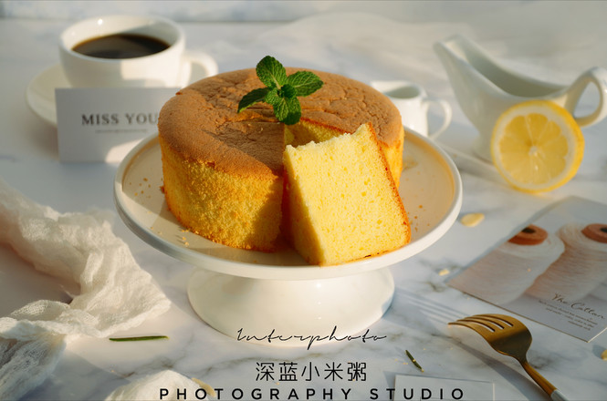 菠萝味戚风蛋糕的制作