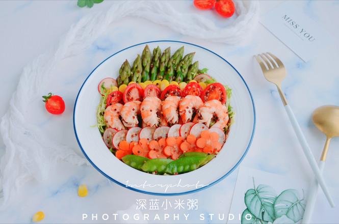 藜麦虾仁蔬菜沙拉的制作大全