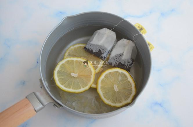 柠檬红茶撞奶的步骤