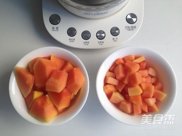 木瓜牛奶燕窝的家常做法