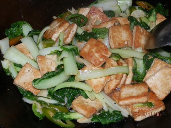 小白菜炕豆腐怎么炒