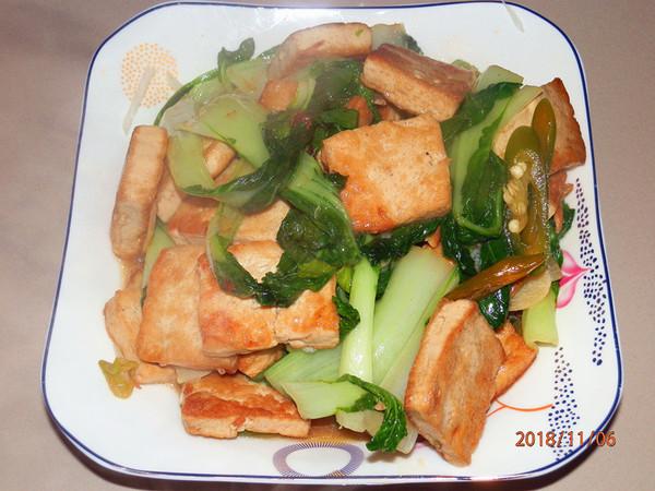 小白菜炕豆腐怎么煮