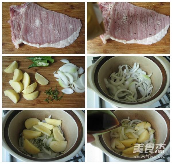 学大师手艺成就香嫩多汁的煎猪排的做法图解