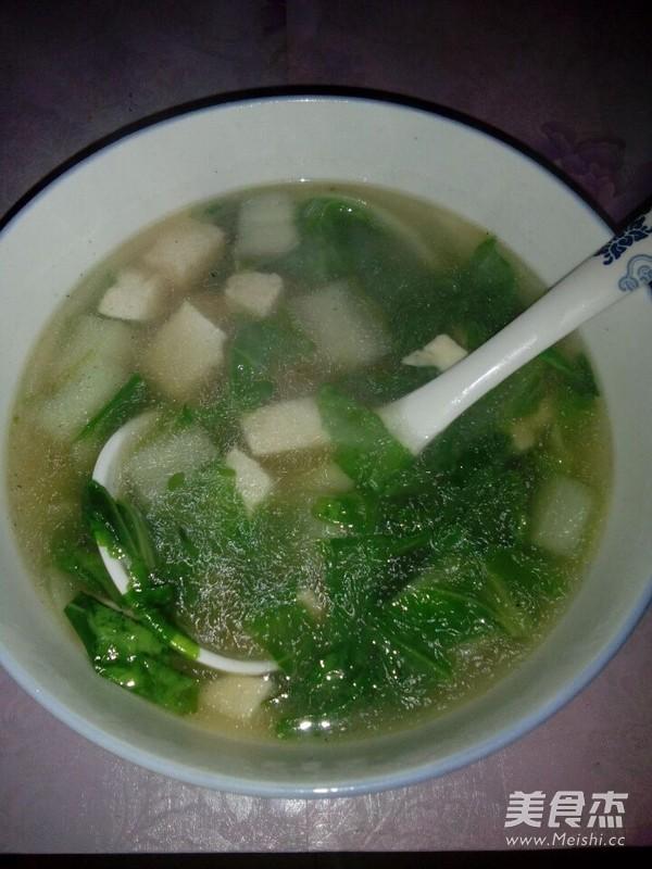 青菜豆腐汤的简单做法