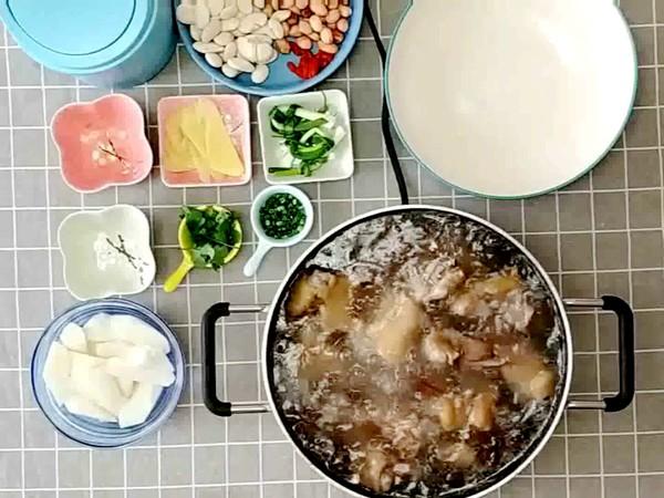 山药花生芸豆猪蹄汤的做法怎么吃