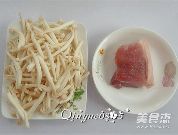 肉炒海鲜菇的做法大全