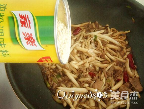 肉炒海鲜菇怎么炒