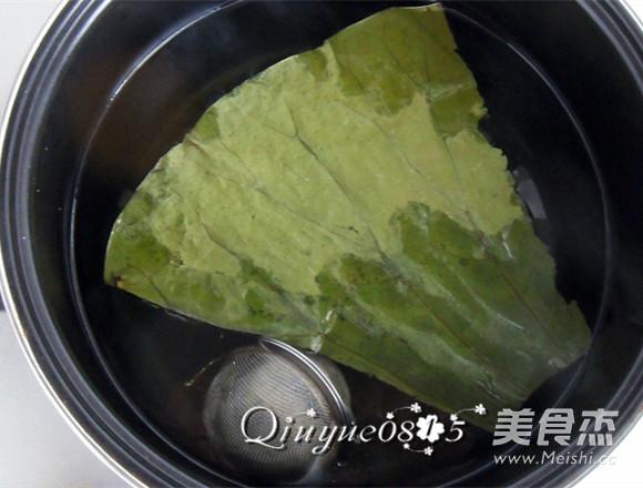 冰糖荷叶粥的家常做法