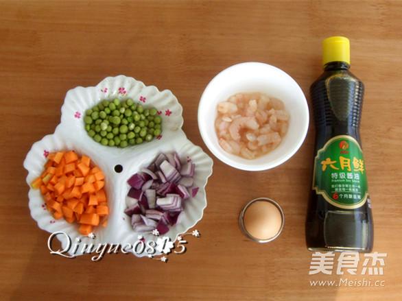 虾味蛋液炒蔬菜的做法图解