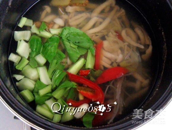 鲜香杂菌芙蓉汤怎么吃
