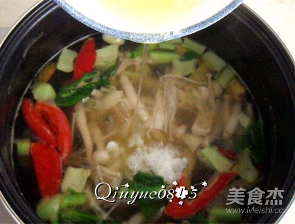 鲜香杂菌芙蓉汤怎么炒