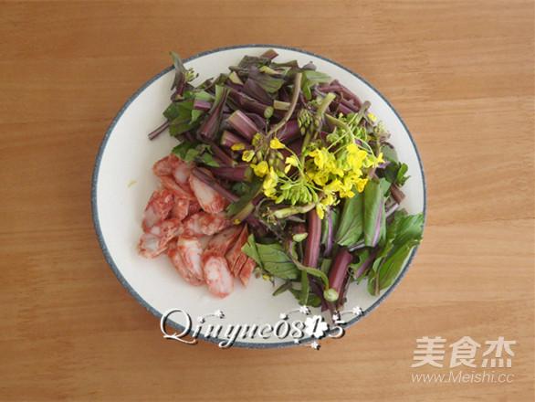腊肠紫菜苔的做法图解