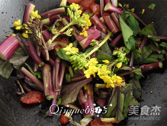 腊肠紫菜苔怎么做