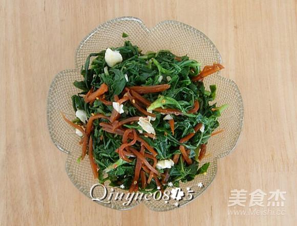 小咸菜拌苦菜怎么炒