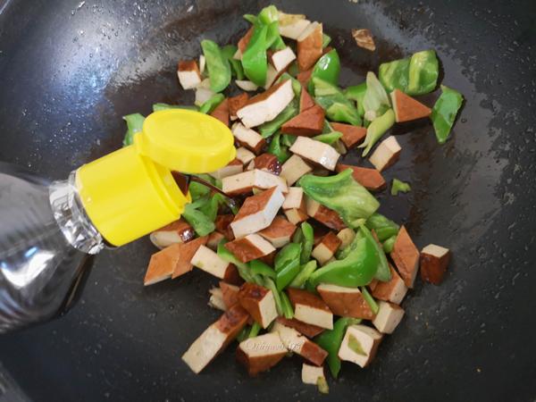 尖椒炒五香豆腐干怎么做