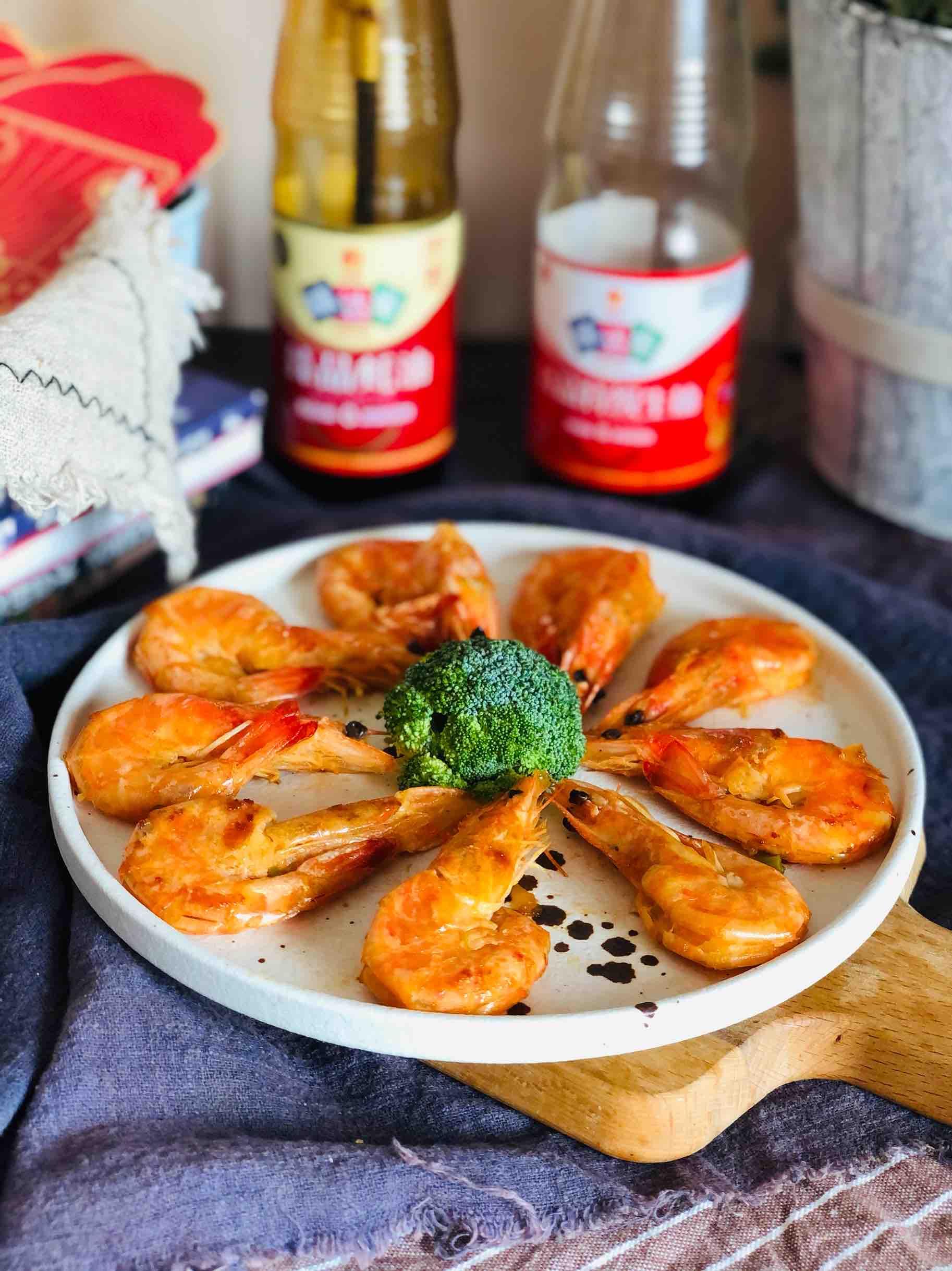 新年开运菜|干㸆大虾成品图