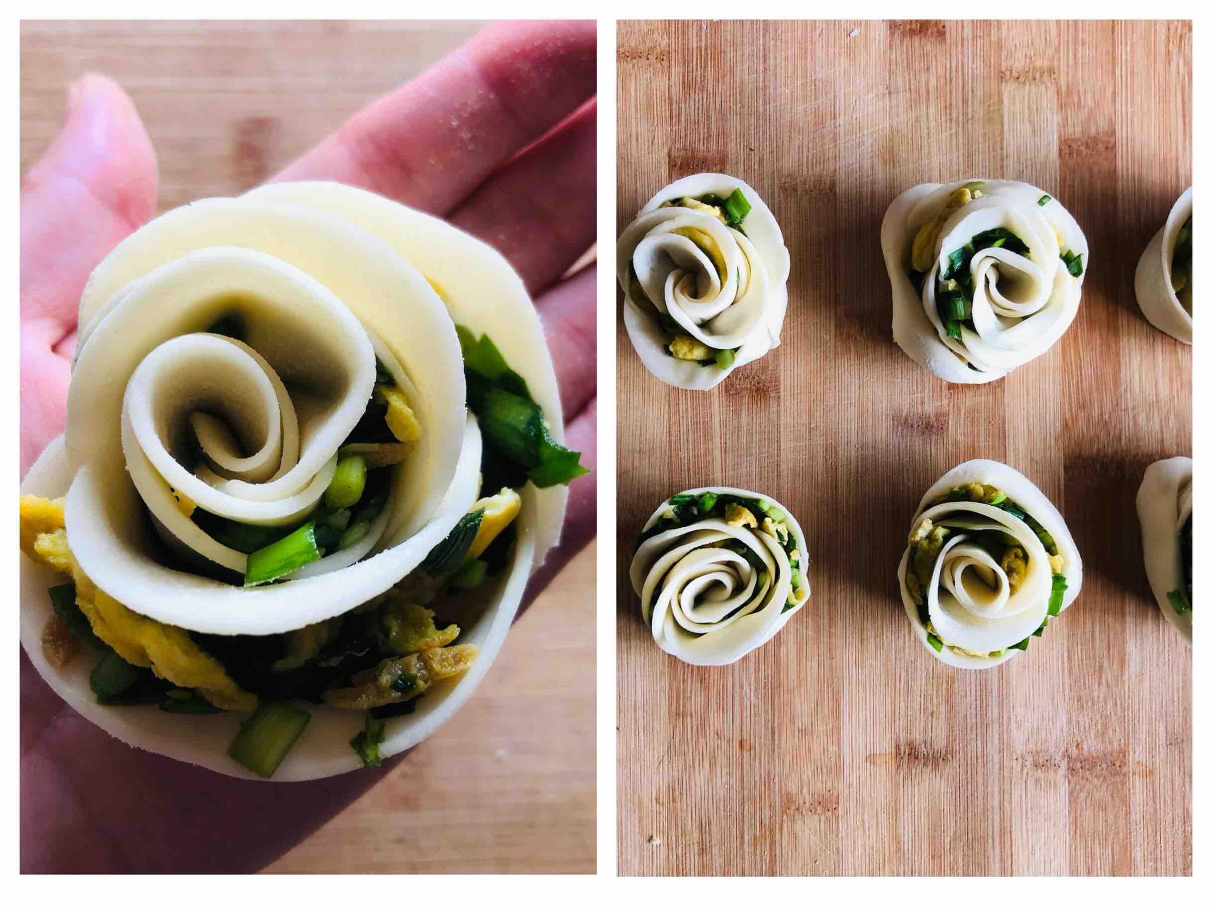 新年开运菜|花开富贵玫瑰花煎饺的步骤