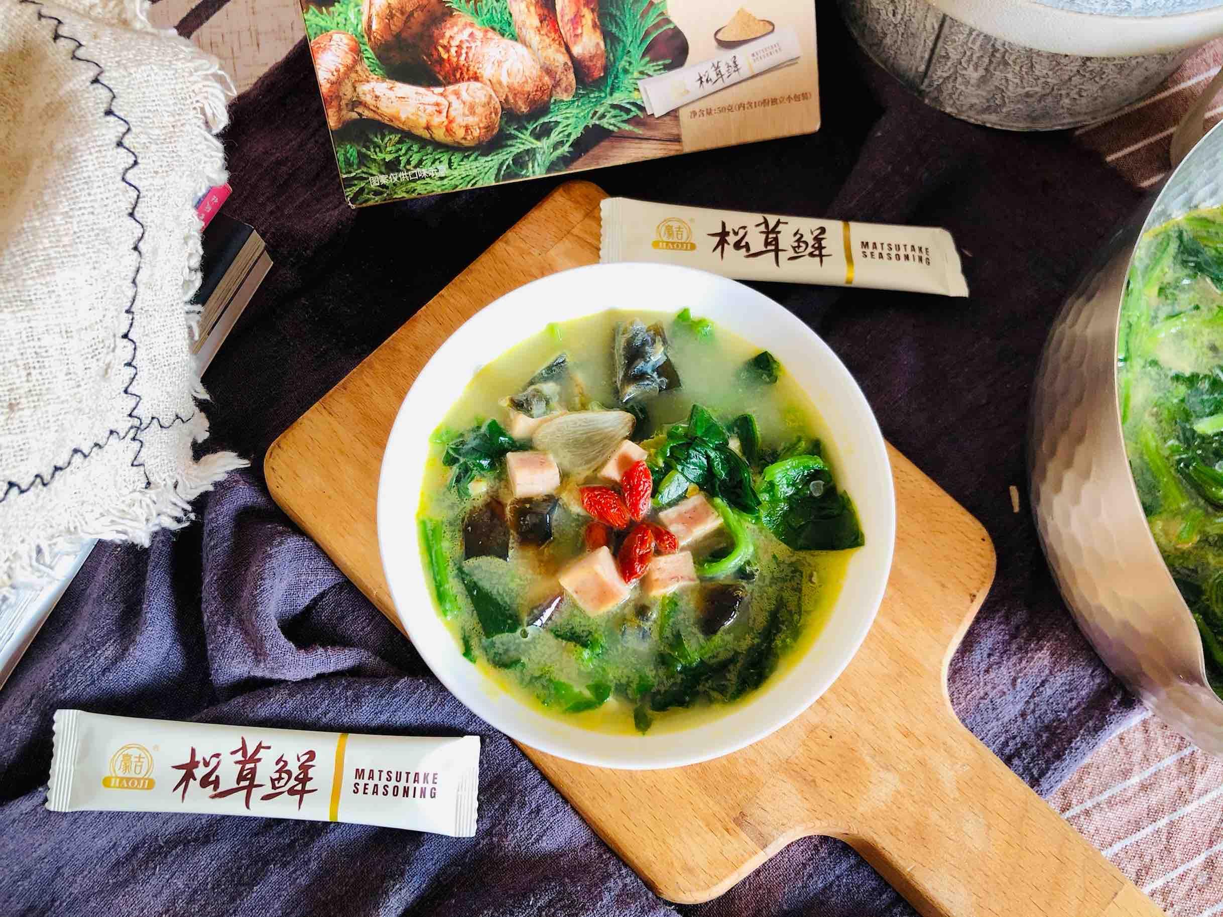 上汤菠菜成品图
